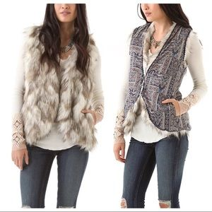 Free People Reversible Call Of The Wild Fur Vest